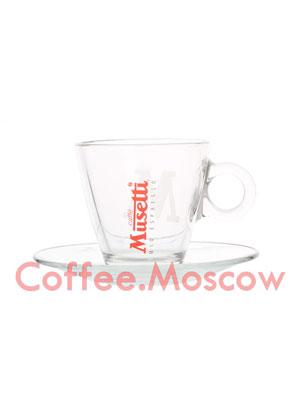 Musetti Чашка и Блюдце Стекло Каппучино