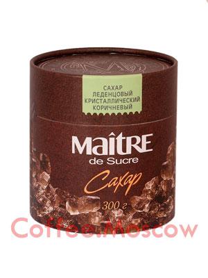 Сахар Maitre Леденцовый кристаллический коричневый 300 гр