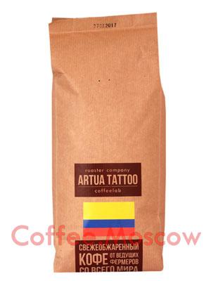 Кофе Artua Tattoo Coffeelab Колумбия Куиндио в зернах 1 кг