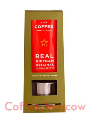 Подарочный набор Star Coffee с устройством для заваривания Фин 250 гр