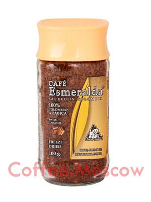 Кофе Cafe Esmeralda растворимый Швейцраская Карамель 100гр