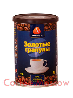 Кофе Almafood Золотые гранулы растворимый 100 гр