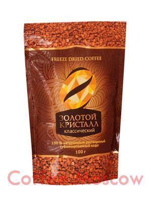 Кофе Золотой Кристалл Классический растворимый пакет 100 гр