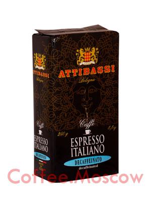 Кофе Attibassi молотый Decaffeinato 250 гр