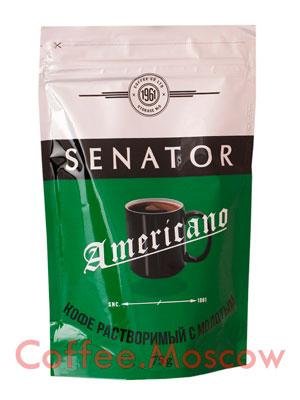 Кофе Senator натуральный растворимый сублимированный с добавлением молотого Americano 75 гр