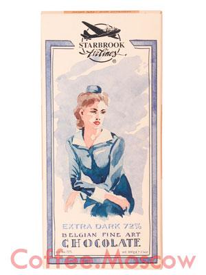 Шоколад Belgian Starbrook airlines горький 72 % 100 гр
