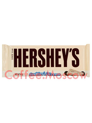 Шоколад Hersheys Cookies Creme Bar 43 гр