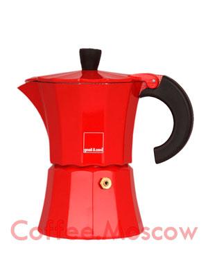 Гейзерная кофеварка Morosina (красная) 3 порции