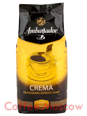 Кофе Ambassador в зернах Crema