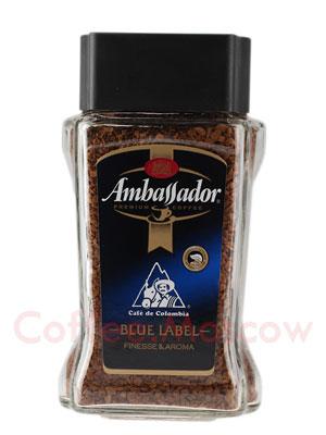 Кофе Ambassador Растворимый Blue Label 190 гр (ст.б.)