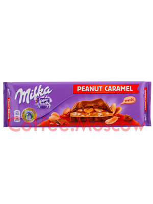 Шоколад Milka Peanut Caramel 270 гр