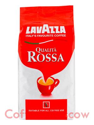 Кофе Lavazza в зернах Qualita Rossa 500 гр в.у.