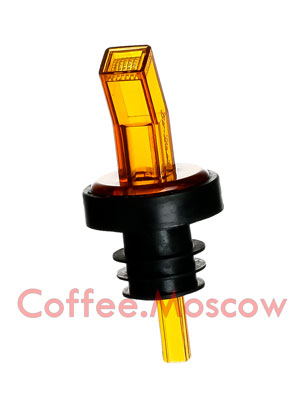 Гейзер с ситом Пластик, резина D-10 (желтый, чёрный)