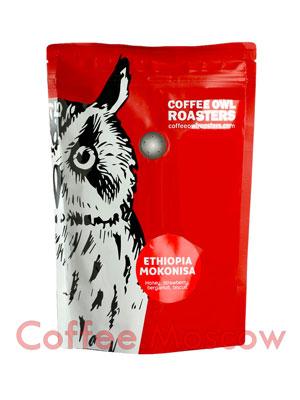 Кофе Owl в зернах Ethiopia Mokonisa 250 гр