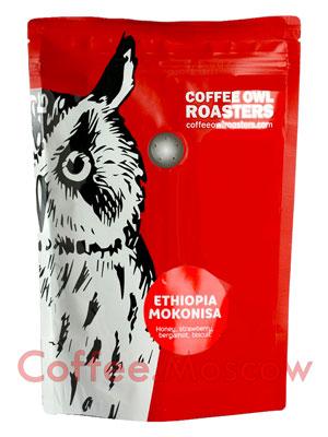 Кофе Owl в зернах Ethiopia Mokonisa 1 кг
