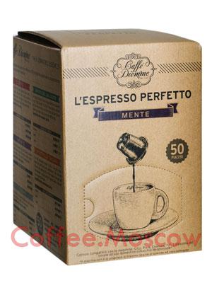 Кофе Diemme в капсулах L`espresso Mente 50 капсул (для Nespresso)