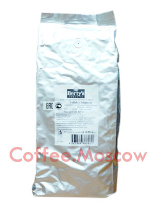 Кофе Berty`s жаренный в зернах Энфилд 1кг