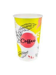 Стакан бумажный Паперскоп Coffee Pastel Thermo 400 мл D80 (18 шт)