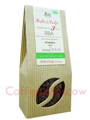 Живой кофе в зернах Эстейт Ява Выдержанный 200 гр